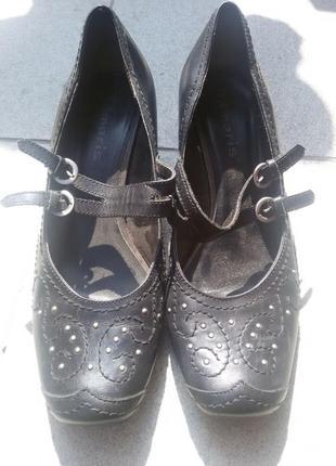 Шикарные и нарядные туфли tamaris натуральная кожа 39р