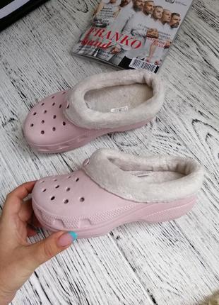 Тапки тапочки утеплённые кроксы для девочки crocs c12-13