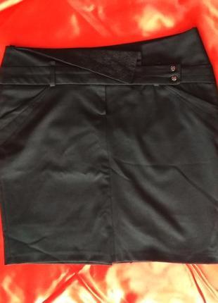 Классическая черная юбка от vangeliza, р.44-46