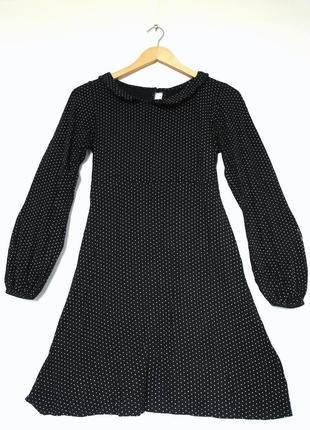 Платье в горошек. платье с длинным рукавом. трикотажное платье.