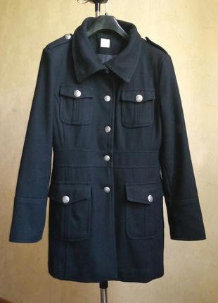 Пальто чёрное осеннее шерсть