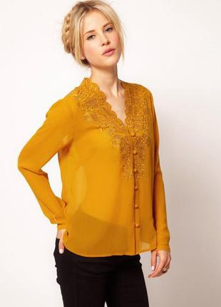 Asos блуза с вышивкой