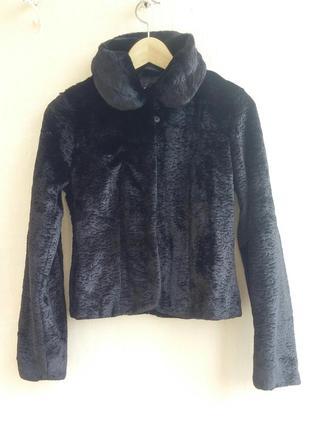 Жакет меховый пиджак в виде каракулевого меха