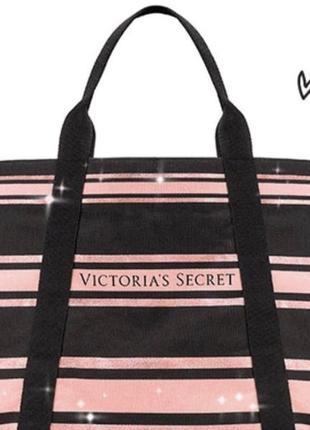 Стильная сумка-шоппер, пляжная,  на молнии от victoria's secret, vs, pink
