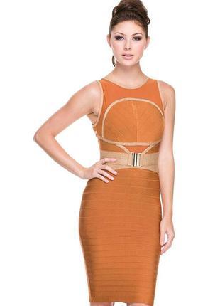 Вечернее платье wow couture бандажное миди размеры m