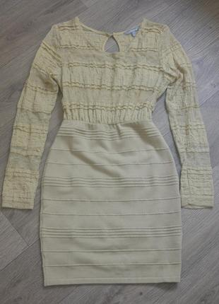 Вечернее платье wow couture бандажное гипюр кружево размеры s, m