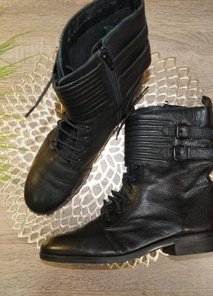 (40р./26см) clarks! кожа! крутые фирменные ботинки, полусапожки на низком ходу