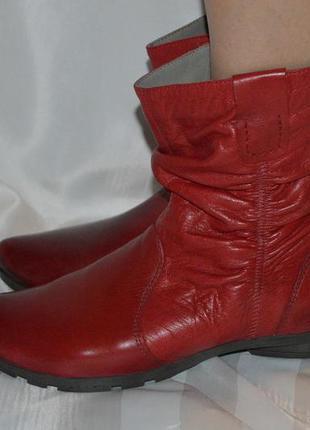 Кожаные сапоги, ботинки, утепленные,ляечная мягкая кожа