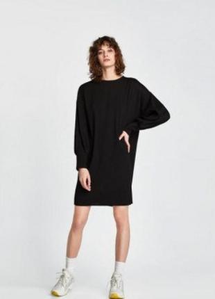 Платье zara oversize оверсайз с карманами