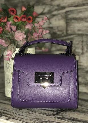Сумка кожаная италия клатч кроссбоди фиолетовая фиолетовый шкіряна натуральная кожа 19