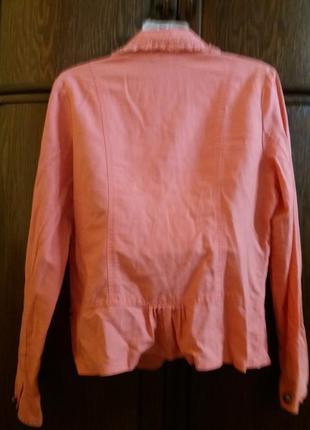 Бомбезный пиджак-бренд--dunnes stores--лен\котон-14-16р4 фото