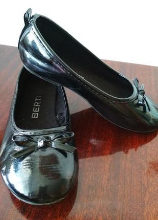 Туфельки, туфлі, балетки berti стелька 17 см