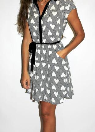 Платье в сердечках, прекрасное качество!  --большой выбор платьев  --