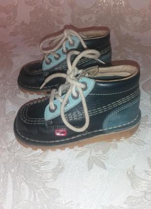 Демисезонные ботинки натуральная кожа  kickers разм 23-24 (15,5 см)