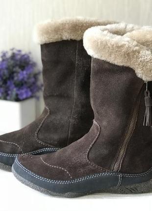 Теплые женские ботинки clarks