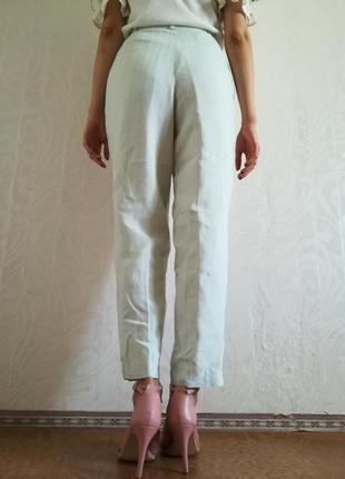 Дизайнерские мятные брюки jean jeacques benson
