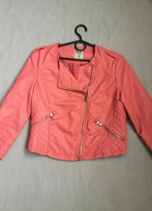 Классная деми куртка косуха  bershka