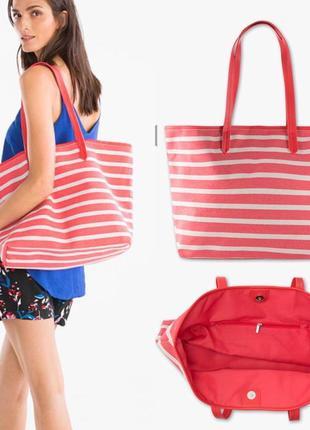 Сумка с&a полоску пляж пляжная сумка полоска лето летняя вместительная полосатая пляжная