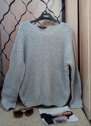 Dorothy perkins объемный свитер оверсайз крупной рельефной вязки
