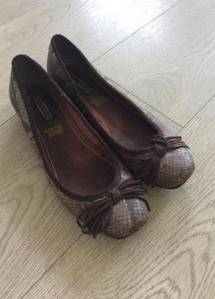 Кожаные туфли балетки 5th avenue р.39