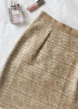 Бежево - золотая юбка benetton