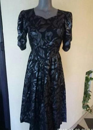 Трендовое платье котон,с напылением цвета 《никель》42-44р