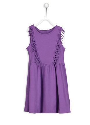 16-152 lcw 110 116 122 128 платье для девочки летний сарафан