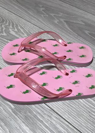 Шлепки ralph lauren розовые сланцы резиновые шлепки