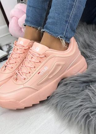 Женские кроссовки розовые пудра  р. 36-412