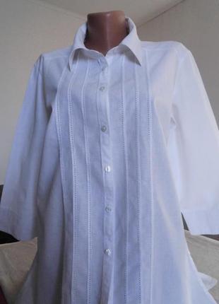 Фирменная рубашка-туника 50-52р       55% лён!