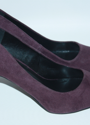 Туфли замшевые лодочки баклажан фиолетовые new look 39р (к027)