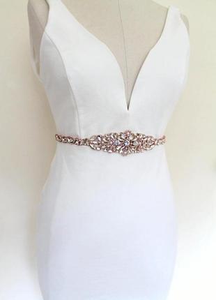 Пояс на талию на свадебное, вечернее, выпускное платье