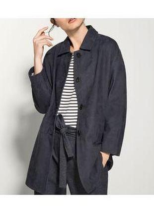 Massimo dutti пиджак пальто  нубук