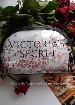 Victoria's secret! большая косметичка, пляжная, для путешествий, на подарок