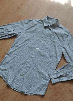 Белая рубашка topman в узоры. какие-то плюсики или что
