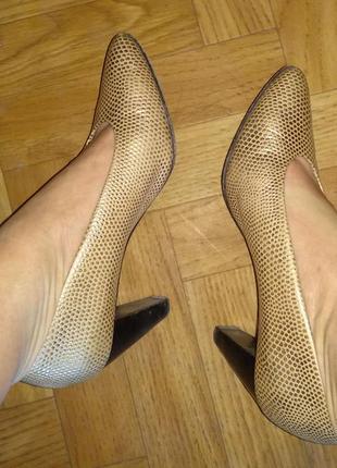 Walter steiger оригинал 36 размер золотые туфли натуральная кожа