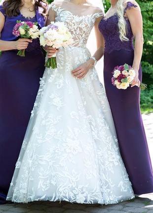 Вишукана весільна сукня, колекція оксани мухи 2018 р.2 фото