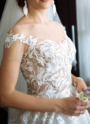 Вишукана весільна сукня, колекція оксани мухи 2018 р.3 фото