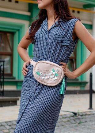Эксклюзивная женская сумка кросс боди из натуральной кожи