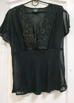 Скидки! блуза вышитая! laura ashley