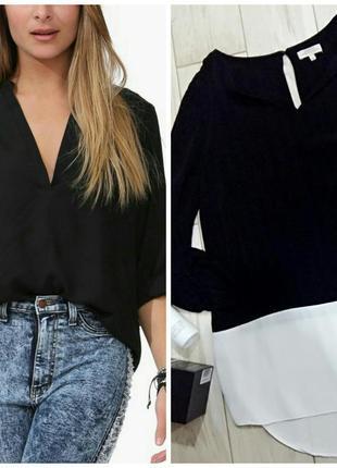 Черная блузка из вискозы на 46-48 размер.