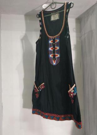 Скидки! платье с вышивкой river island