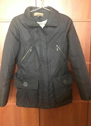 Куртка демисезонная черная балоневая