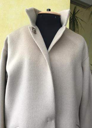 Пальто oversize р-38/42 шерсть италия
