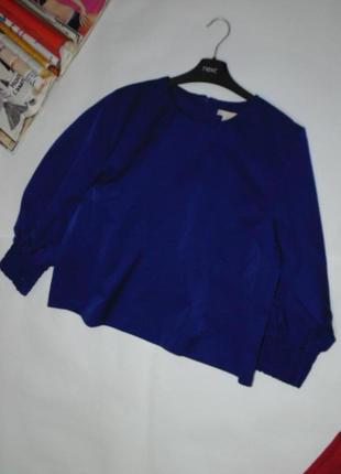 Синяя блузочка с объемными рукавами h&m