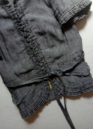 Льняной серый пиджак gil bret3 фото