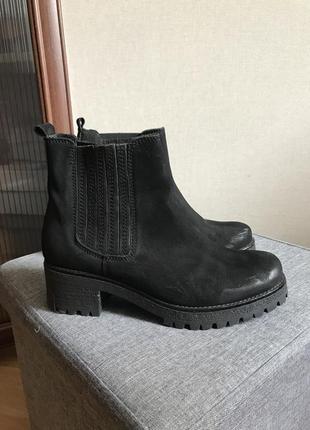Ботинки полуботинки ботильоны натуральный нубук 40 рр, 26 см