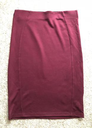Обтягивающая юбка цвета марсала от stradivarius