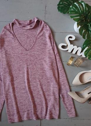 Актуальный топ блуза кофта джемпер с чокером №134