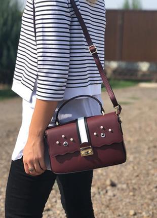 Женская сумка из натуральной кожи. италия